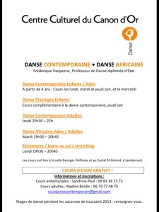 Danse contemporaine africaine et étirements